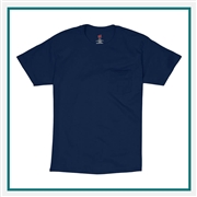 Hanes Tagless 100% Cotton T-Shirt with Pocket 5590 with Silkscreen Logo, Custom Logo Hanes T-Shirts, Hanes 5590 T-Shirt Best Price