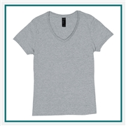 Hanes Ladies Nano-T Cotton V-Neck T-Shirt S04V with Silkscreen Logo, Custom Logo Hanes T-Shirts, Hanes S04V T-Shirt Best Price