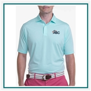 Fairway & Greene Men Mini Stripe Tech Jersey Polo Custom Embroidery, Fairway&Greene Corporate Polos, Fairway&Greene Branded Polo