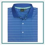 Fairway & Greene Men's Baker Stripe Lisle Polo Custom Embroidery, Fairway&Greene Corporate Polos, Fairway&Greene Branded Polo