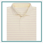 Fairway & Greene Men Bryce Stripe Natural Jersey Custom Embroidery, Fairway&Greene Corporate Polos, Fairway&Greene Branded Polo