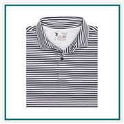 Fairway & Greene USA Brooks Stripe Polo Custom Embroidery