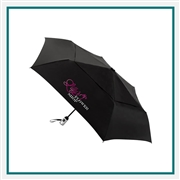 ShedRain Windjammer Auto Open Close Vented Compact Umbrella UPF 50+ Custom Printed