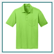 Port Authority Men's Silk Touch Performance Pocket Polo Custom Embroidered