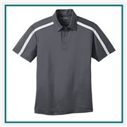 Port Authority Men's Silk Touch Performance Colorblock Polo K547 with Custom Embroidery, Custom Logo Port Authority Polos, Embroidered Port Authority Polos, Embroidered Port Authority, Port Authority Embroidery
