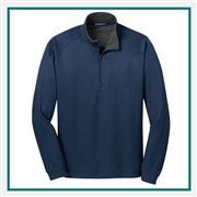 Port Authority Men's Vertical Texture 1/4 Zip Pullover with Custom Embroidered