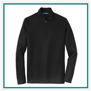 Port Authority Men's Pinpoint Mesh 1/2-Zip Pullover Custom Embroidered