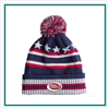 AHEAD USA Multi-Stripe With Pom with Custom Embroidery, AHEAD Custom  Beanies, AHEAD Custom Logo Headwear