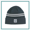 AHEAD Toque Double Stripe with Custom Embroidery, AHEAD Custom Fleece Beanies, AHEAD Custom Logo Headwear