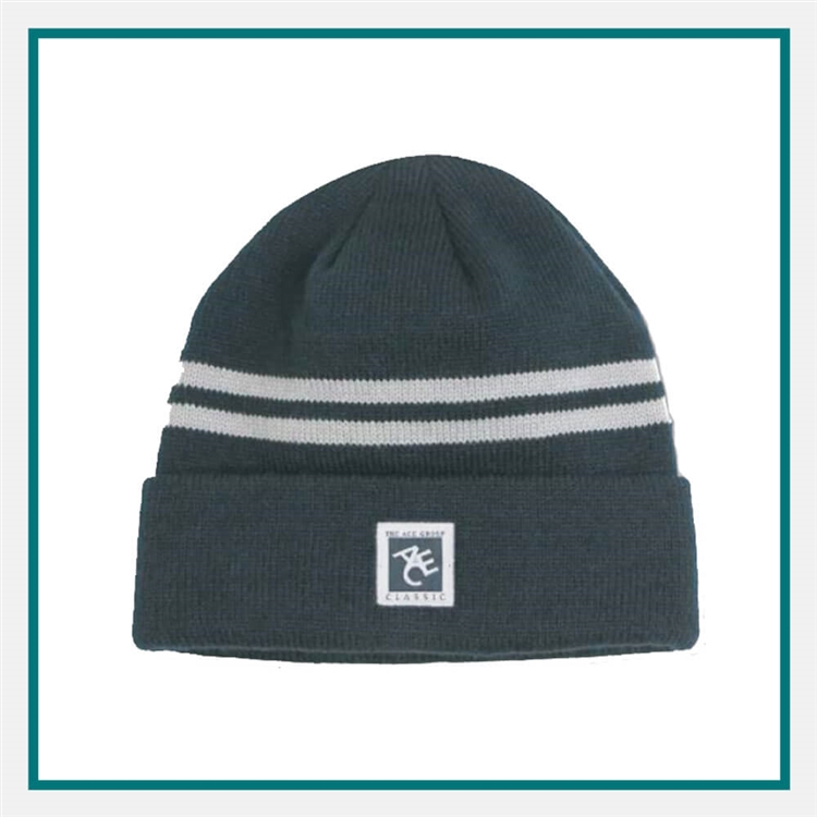 9d7fe396051b4 AHEAD Toque Double Stripe with Custom Embroidery