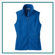 Port Authority Ladies Value Fleece Vest with Custom Embroidery, Port Authority Custom Fleece Vests, Port Authority Custom Logo Gear