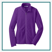 Port Authority Ladies Microfleece Jacket Custom Embroidered