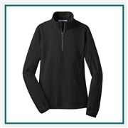 Port Authority Ladies Microfleece 1/2-Zip Pullover Custom Embroidered