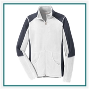 Port Authority Ladies Colorblock Microfleece Jacket Custom Embroidered