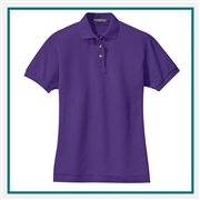 Port Authority Women's Heavyweight Cotton Pique Polo L420 with Custom Embroidery, Custom Logo Port Authority Polos, Embroidered Port Authority Polos, Embroidered Port Authority, Port Authority Embroidery