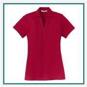 Port Authority Ladies Silk Touch Y-Neck Polo Custom Embroidered