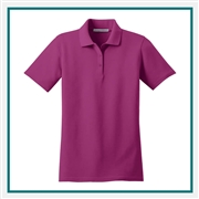 Port Authority Ladies Stain-Resistant Polo with Custom Embroidery, Port Authority Custom Polos, Port Authority Custom Logo Gear