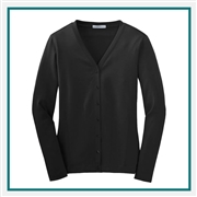 Port Authority Ladies Stretch Cotton Cardigan with Custom Embroidery, Port Authority Custom Cotton Cardigans, Port Authority Custom Logo Gear