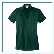 Port Authority Ladies Performance Fine Jacquard Polo with Custom Embroidery, Port Authority Custom Polos, Port Authority Custom Logo Gear