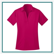 Port Authority Ladies Silk Touch Polo with Custom Embroidery, Port Authority Custom Polos, Port Authority Custom Logo Gear