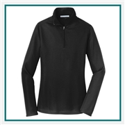 Port Authority Ladies Pinpoint Mesh 1/2-Zip with Custom Embroidery, Port Authority Custom Microfleece Pullovers, Port Authority Custom Logo Gear