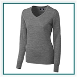 Cutter & Buck Ladies' Douglas V-neck Sweater LCS04774, Cutter & Buck Sweaters, Cutter & Buck Custom Logo