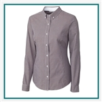 Cutter Buck Women's L/S Epic Easy Care Gingham Shirt Custom Embroidered