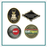 Die Struck Ball Marker with Custom Logo