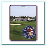 "Plastic Bag Tags w/ Metallic Imprint 4"", bag Tag with Custom Logo, Golf Tournament  Gifts, Golf Gifts"