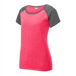 Sport-Tek Ladies Heather-On-Heather Contender Scoop Neck Tee LST362, Sport-Tek Promotional Tees, Sport-Tek Custom Logo