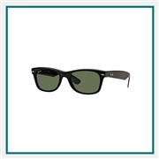 Ray-Ban Original Wayfarer Classic Sunglasses with Custom Logo, Ray-Ban Logoed Sunglasses, Ray-Ban Personalized Eyewear
