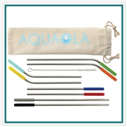 Reusable Stainless Straw 10 in 1 set Printed