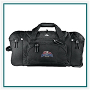 "High Sierra  26"" Wheeled Duffel Bag Custom Logo, High Sierra Promotional Duffel Bags, High Sierra Embroidered"