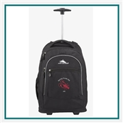 "High Sierra Chaser Wheeled 17"" Computer Backpack 8051-38 Custom Logo"