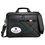 "Case Logic Cross-Hatch 17"" Briefcase Custom Logo"