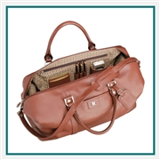 "Cutter & Buck 19"" Leather Weekender Duffel Bag Custom Logo"