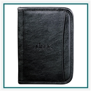 DuraHyde Jr. Zippered Padfolio 0600-06, Windsor Promotional Padfolios, Samsonite Custom Logo
