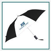 "Strombergbrand 42"" Auto Open Folding Umbrella 2050-02 Custom Silkscreen"