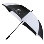 "58"" Ultra Value Auto Open Folding Golf Umbrella 2050-55 With Custom Silkscreen, Strombergbrand Branded Umbrellas, Strombergbrand Corporate Sales"