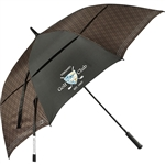 "Cutter & Buck 64"" Plaid Golf Umbrella Custom Logo"