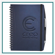 Pedova Large Wire Bound JournalBook, Custom Padfolios, Imprinted Padfolio under $10, Leeds Promotioinal Products