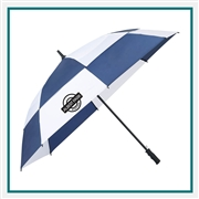 62 Totes Auto Open Vented Golf Umbrella 8850-03 With Custom Printed Logo, Totes Promotional Golf Umbrellas, Totes Personalized Golf Umbrellas