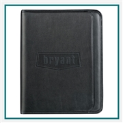 Manhattan Writing Pad 9200-01, Custom Zippered Padfolios, Promotional Leather Gifts, Promotional Business Gifts