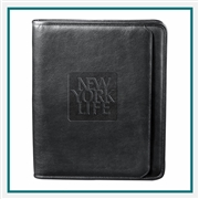 Manhattan Zippered Padfolio 9200-10, Promotional Padfolios, Padfolios Custom Logo