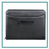 Millennium Leather Zippered Padfolio Custom Logo