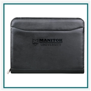Millennium Leather Zippered Padfolio 9500-10, Promotional Padfolios, Padfolios Custom Logo