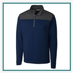 Cutter & Buck M CBUK Skyridge Half Zip Fleece Pullover Custom Embroidered