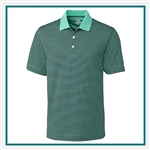 Cutter & Buck DryTec Trevor Stripe Polo MCK00332, Cutter & Buck Promotional Polos, Cutter & Buck Custom Logo