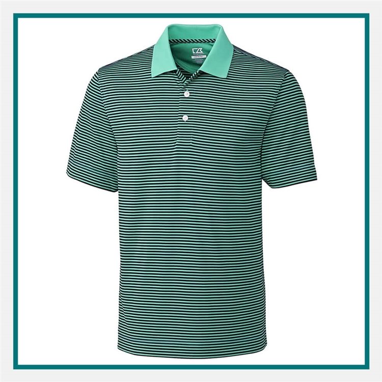 Cutter & Buck Men's Trevor Stripe Polo Custom Embroidery