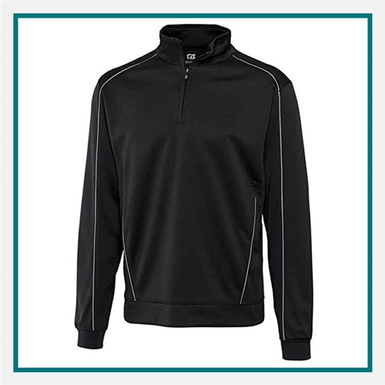 Cutter & Buck M Edge Half-Zip Pullover Custom Embroidery